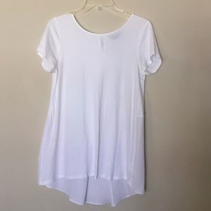 Lands End Flowy White Tee